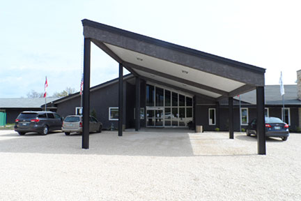 aurora recovery centre front building