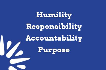 humility responsibility accountability purpose