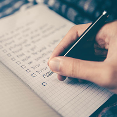 recovery tool checklist
