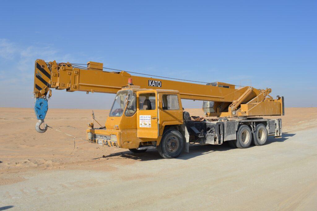 construction truck crane