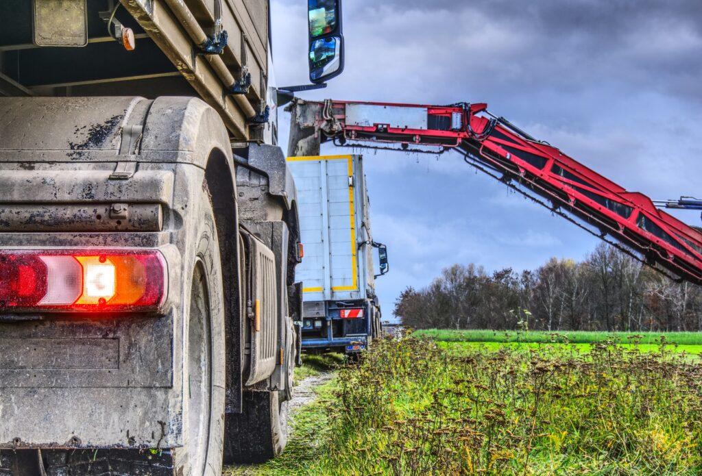 heavy duty trucks working