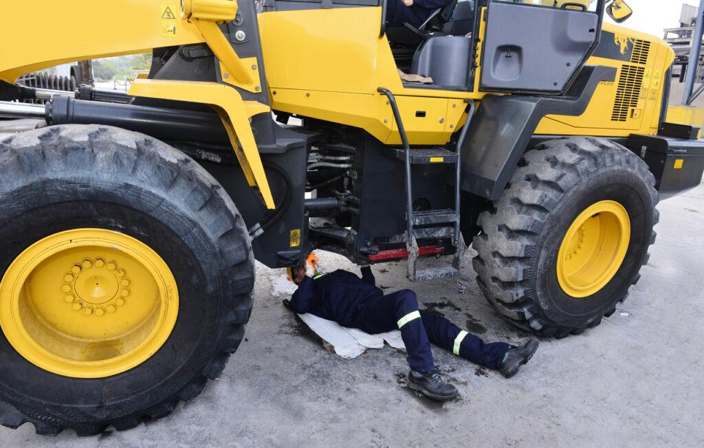 Repairing Excavator