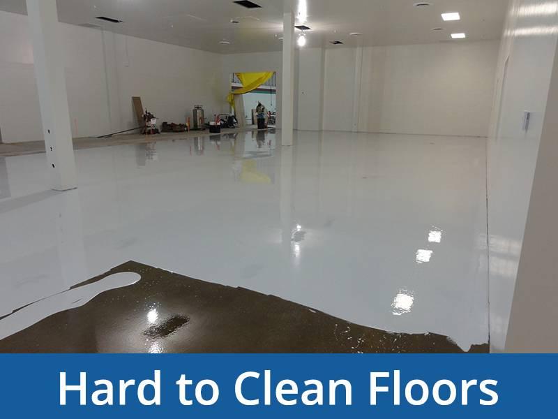 hard to clean floors
