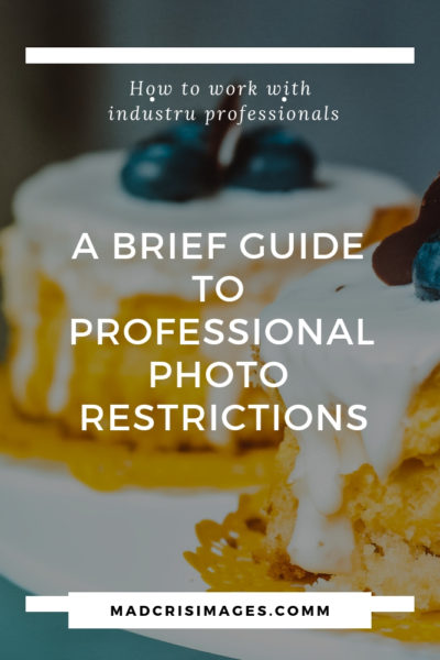 professional photo restrictions