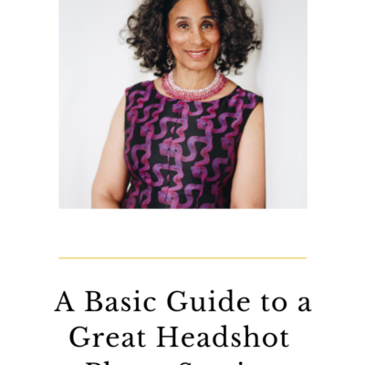 A Basic Guide to a Great Headshot Photo Session