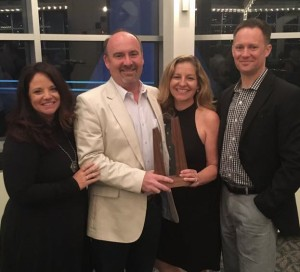 RCC owner, along with wife and business partner, Ellen Cottrill, Rebecca Davisson from Designmind and Jason Faulkner, architect for the project.