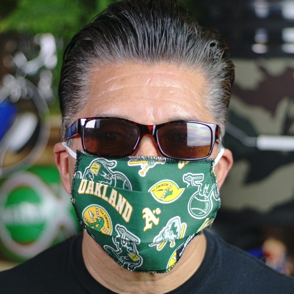 Ican Face Mask – Oakland As