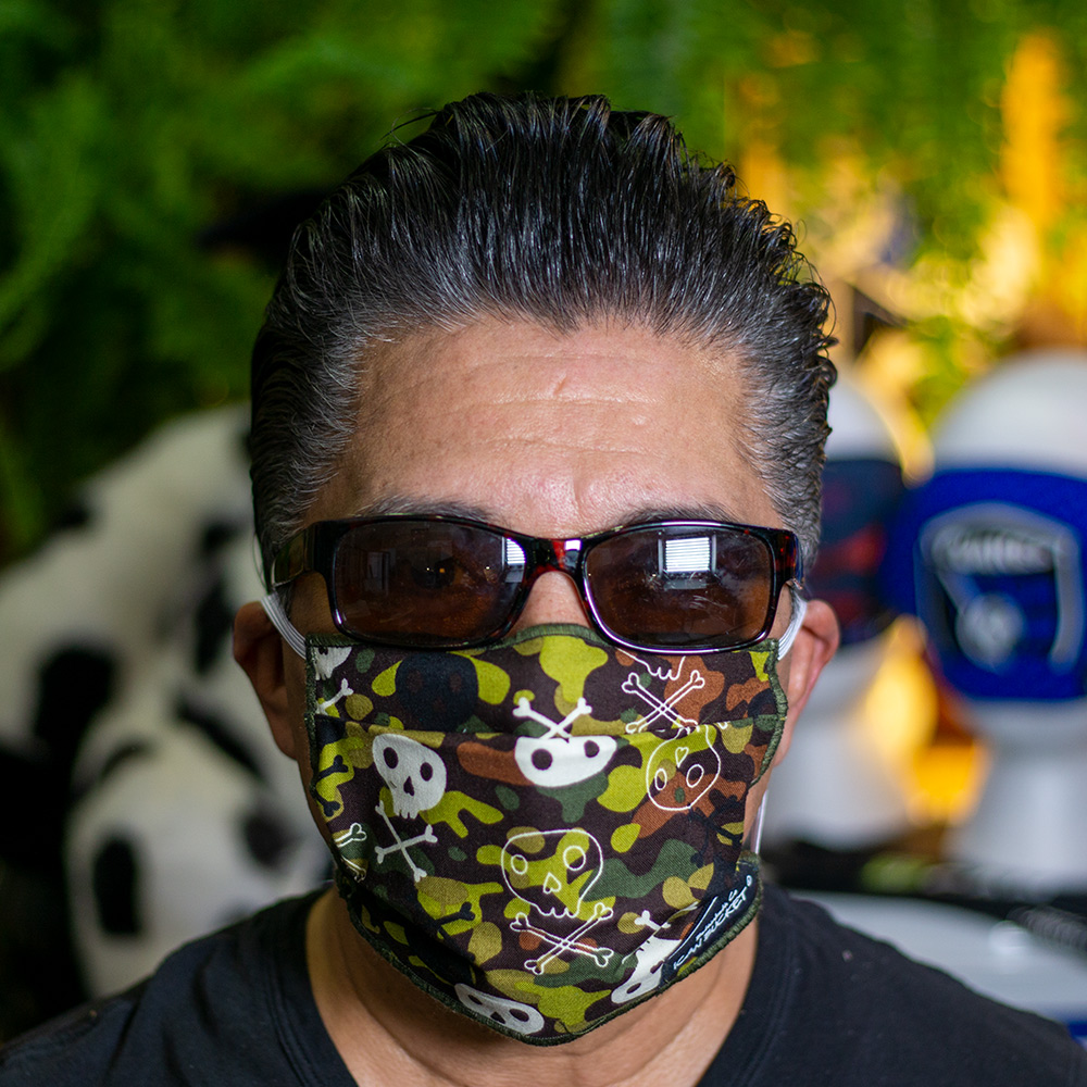 Ican Face Mask Solid Color – Camouflage Skull