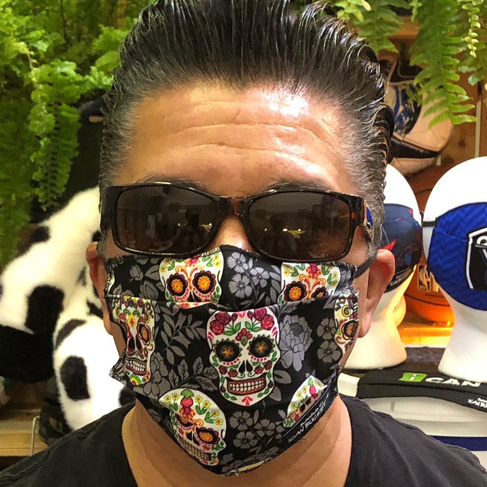 Ican Face Mask – Day Of The Dead Grey BG