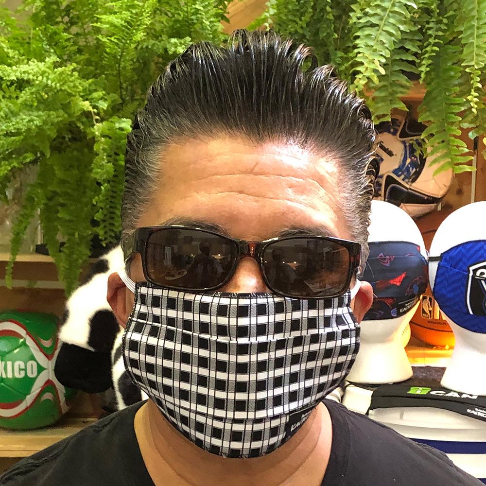 Gingham Black – Face Mask