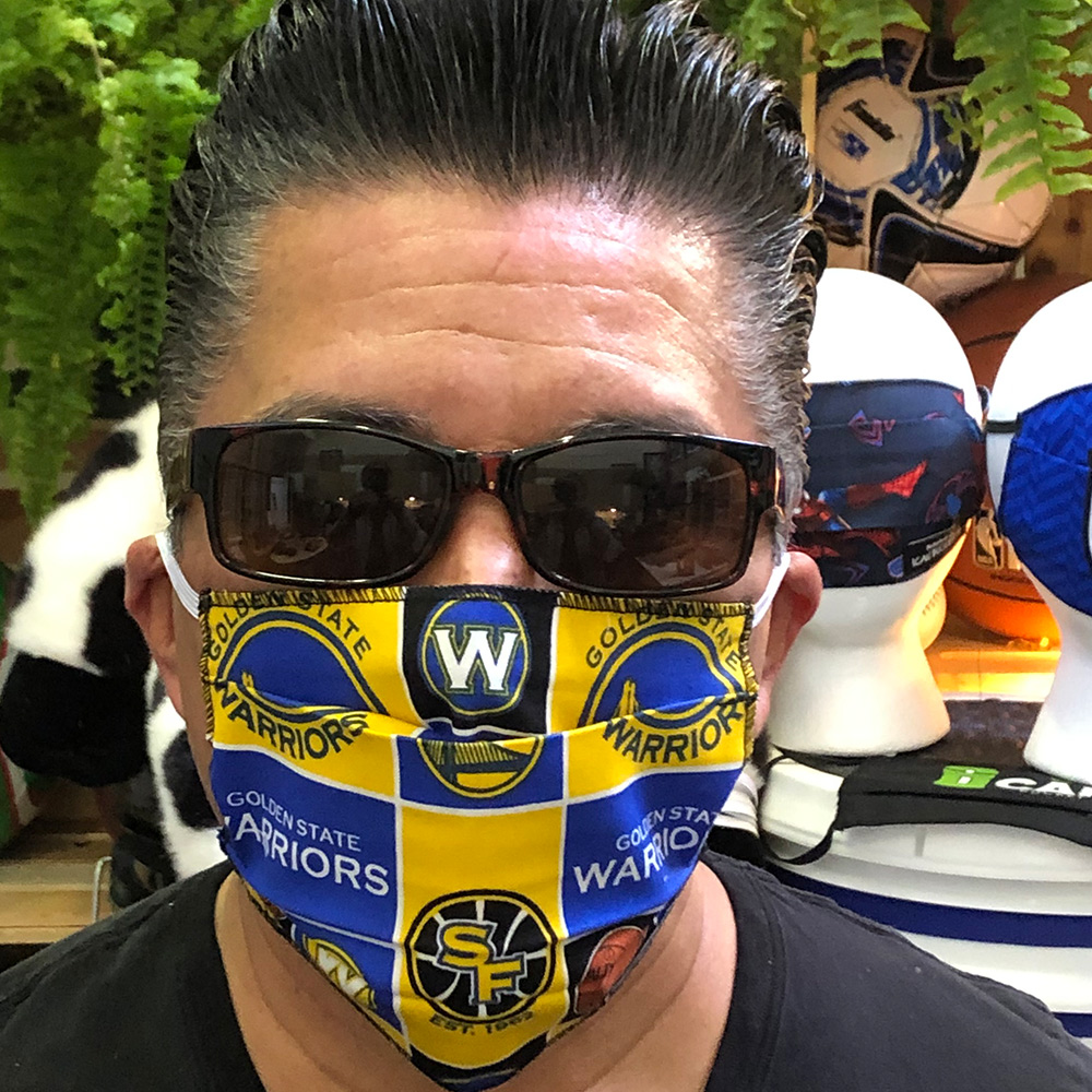 Golden State Warrrios- Ican Face Mask