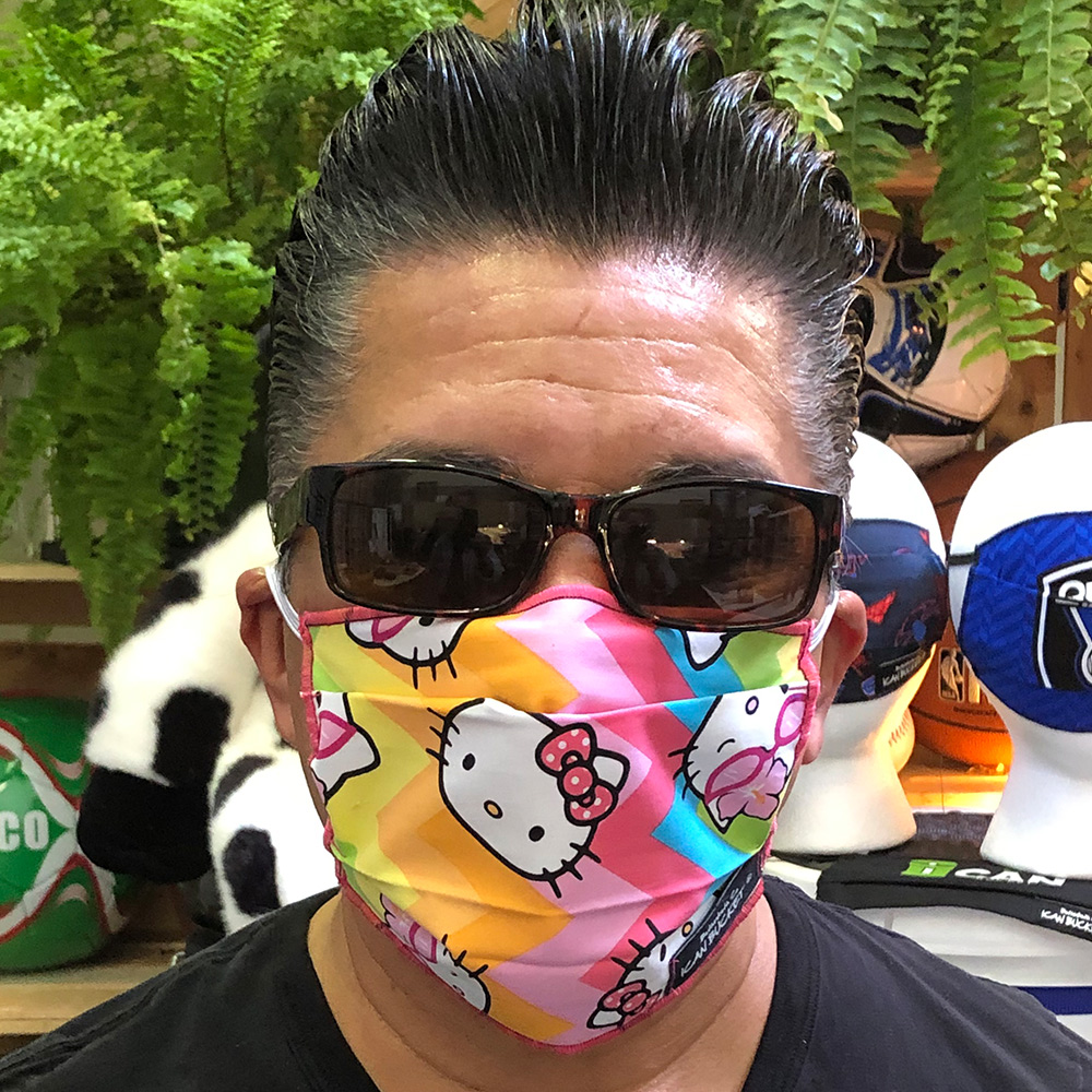 Hello Kitty Chevron Rainbow – Face Mask