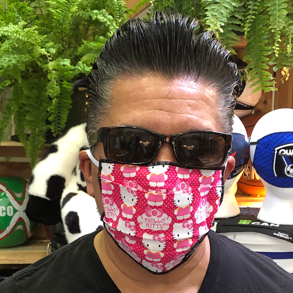 Ican Face Mask Solid Color – Hello Kitty Pink Polka Dots