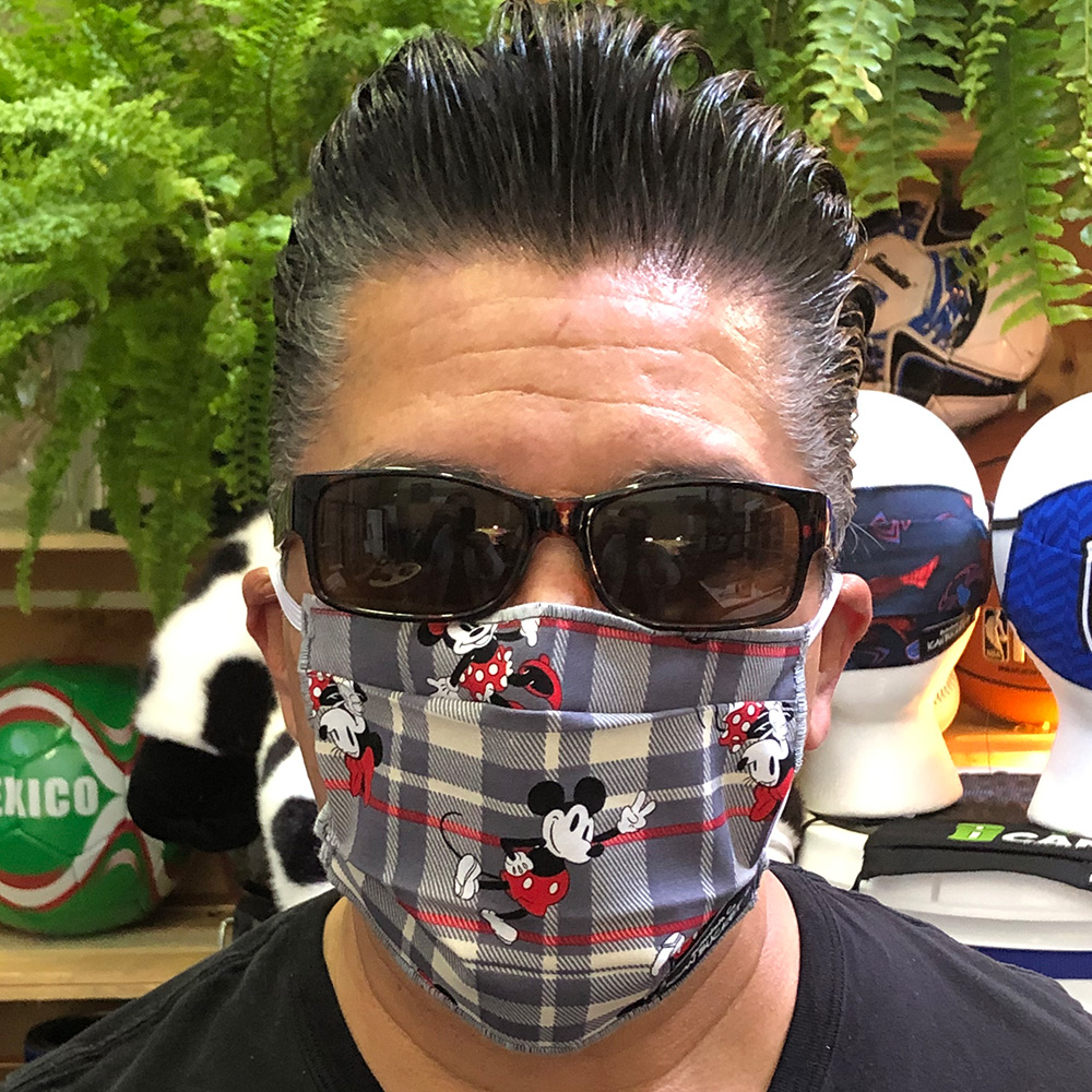 Micky Mouse Gray Plaid – Face Mask