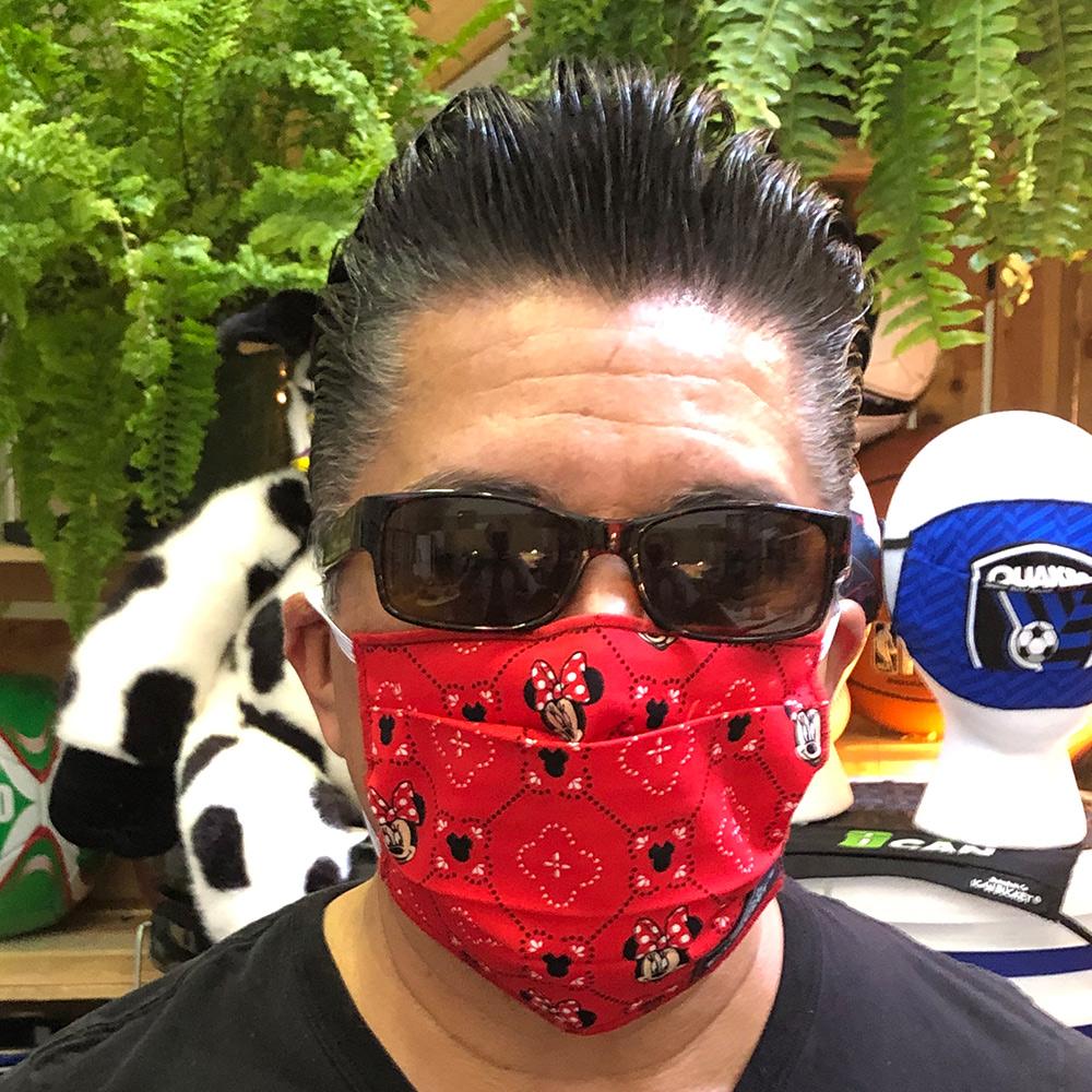 Mini Mouse Red Quatrefoil – Face Mask