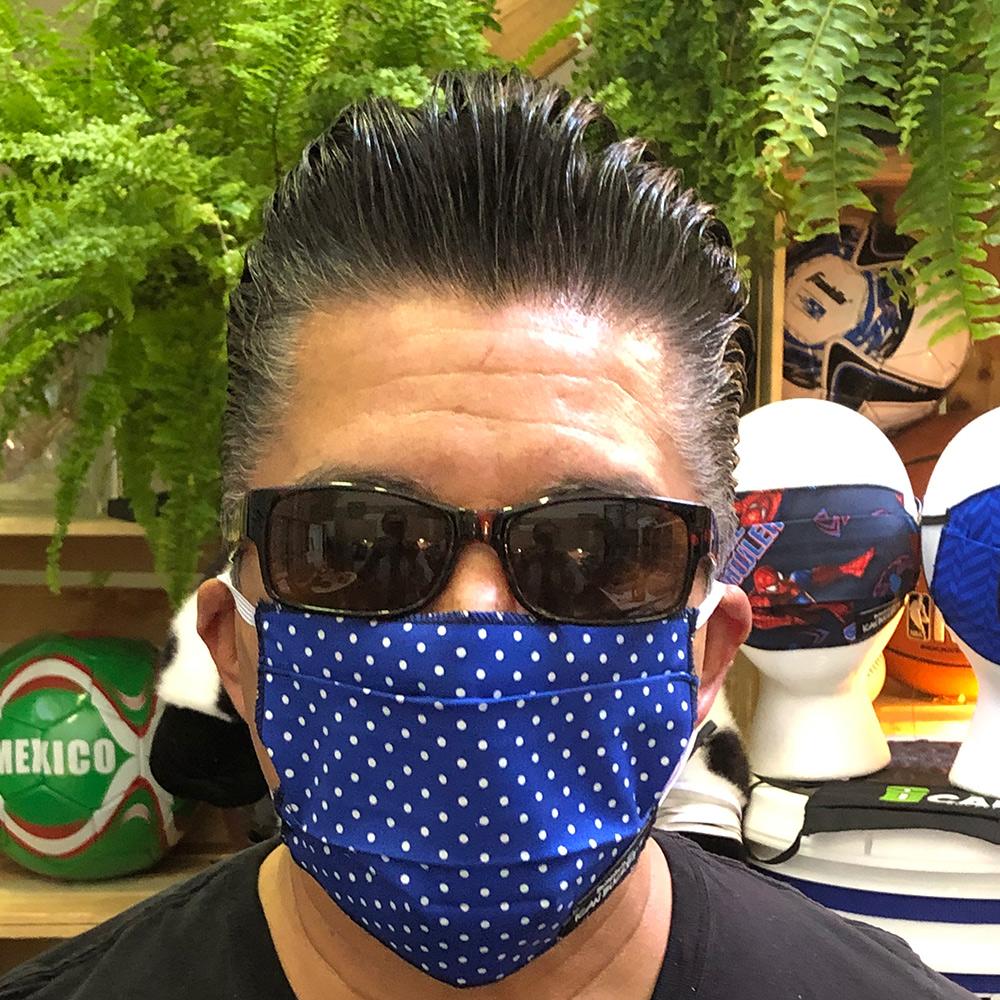Polka Dot Blue – Face Mask