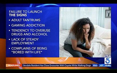 Failure To Launch, the signs. Adult tantrums, gaming addiction, tendency to overuse drugs and alcohol, lack of steady employment, complains of being bored with life.