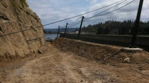 Rock fall safety fence