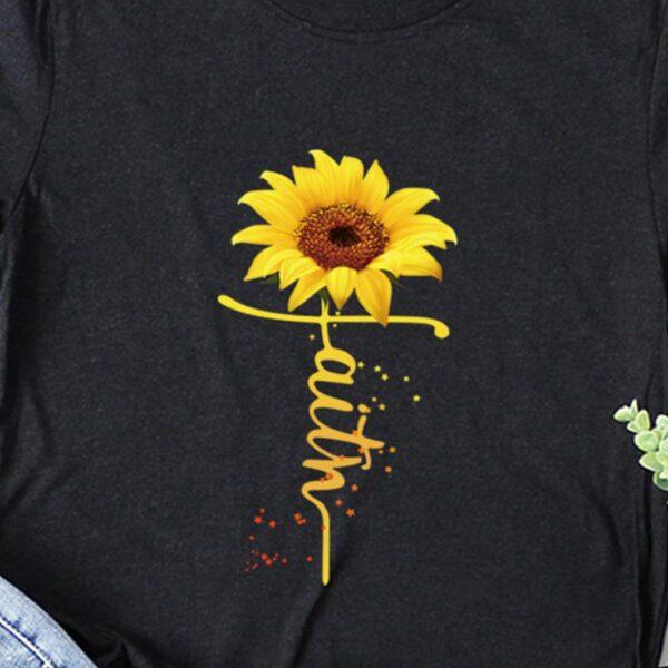 faith sunflower t-shirt angie strader