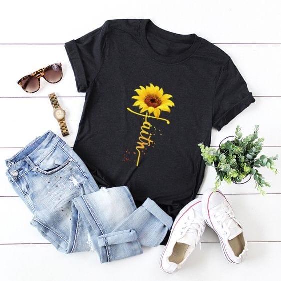 Black Faith Sunflower t-shirt