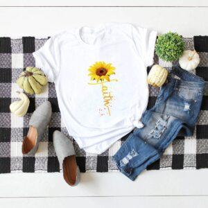 White Faith Sunflower T-shirt