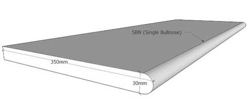 30mm Single Bullnose Coping
