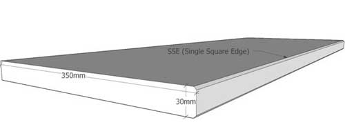 Singleside Square Edge Coping