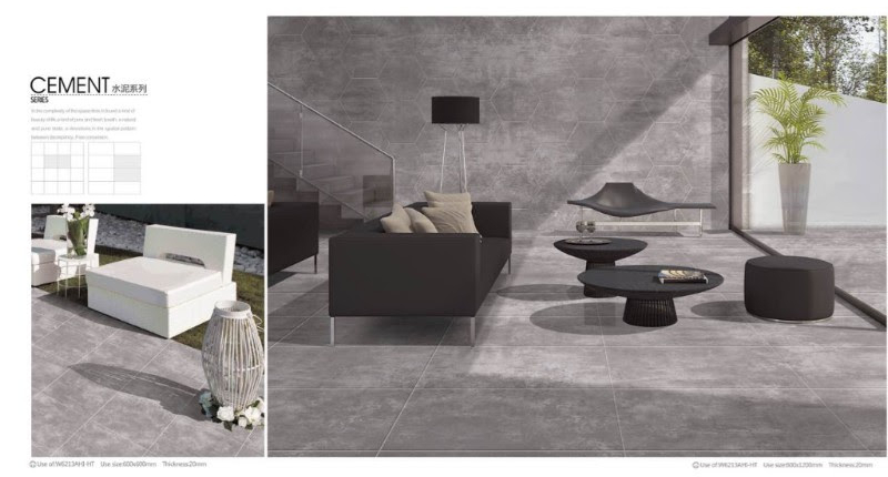 Living room porcelain tiles