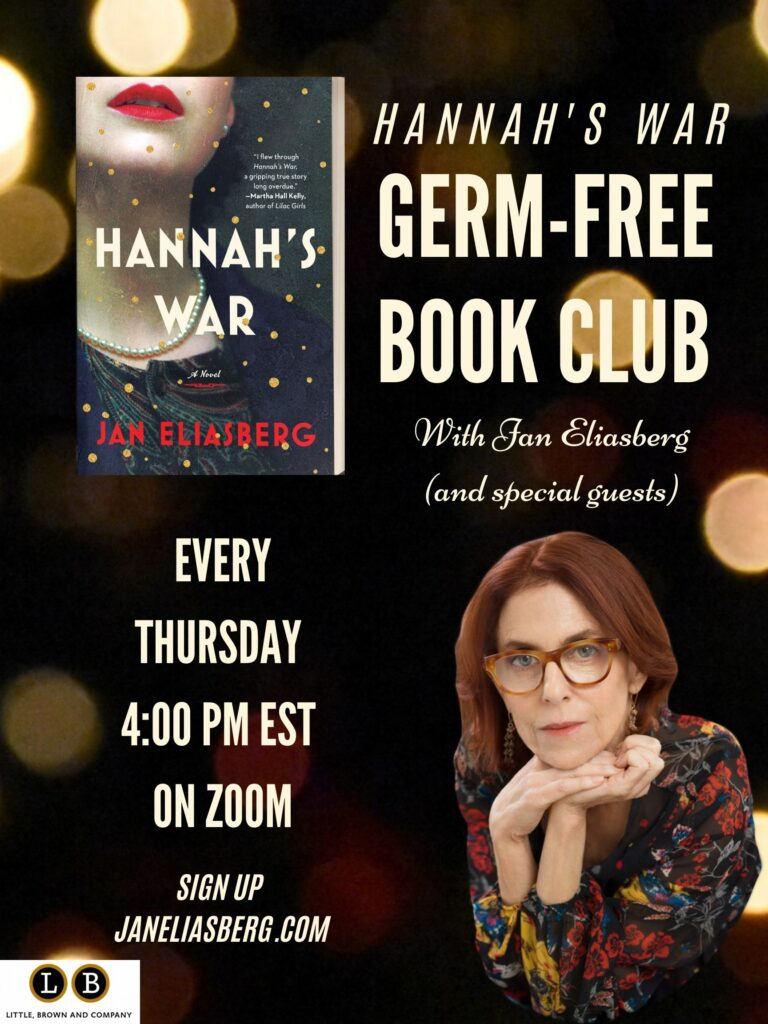 Hannah's war Germ-Free bookclub copy