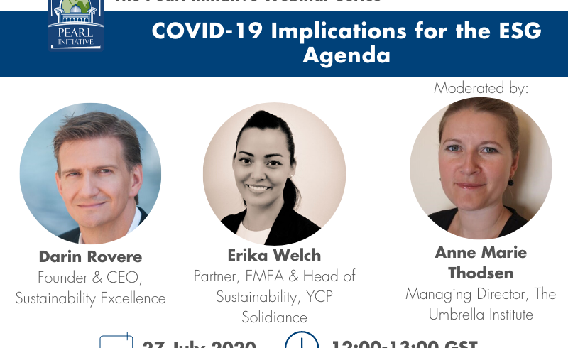 Panel discussion on ESG during the Covid-19 in 2020