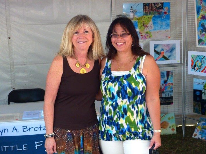 """""""Core"""" Colleagues Delaine and Lesley supporting Key Biscayne Art Festival"""