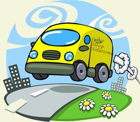 Comic Delivery Van