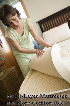 Organic latex mattress layers