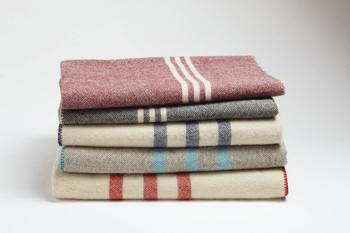 Striped Wool Blankets by Coyuchi