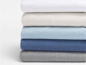 Jersey sheet set of organic cotton by Coyuchi