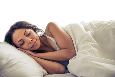 Woman of color sleeping