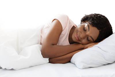 sleeping woman of color