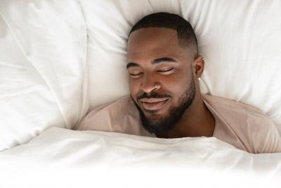 black man sleeping