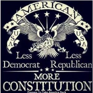 Less Republican Less Democrat more Constitution, less politics more restraint on big government by focusing on the Constitution and limited powers