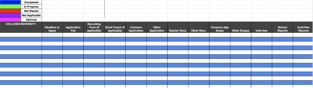 My College Tracker