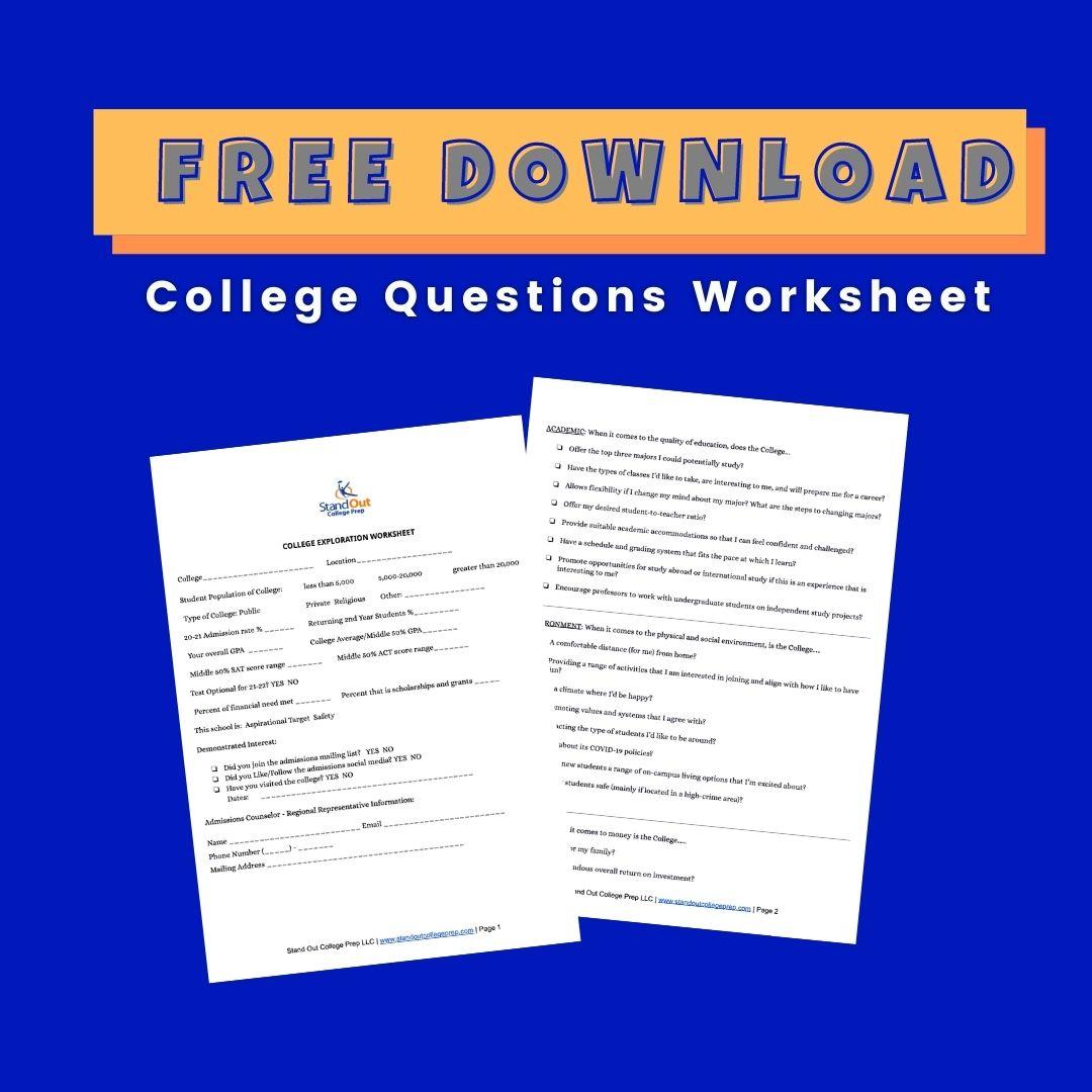 Download: College Exploration Sheet