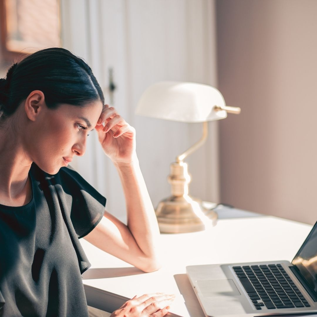 Woman admission officer checking college essays