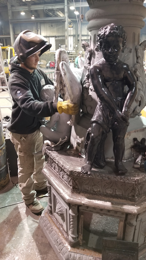 Restoration of Studebaker Fountain, South Bend, IN