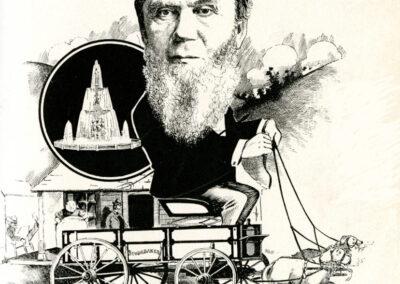 John M. Studebaker vintage sketch