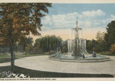 Studebaker Electric Fountain Vintage Postcard