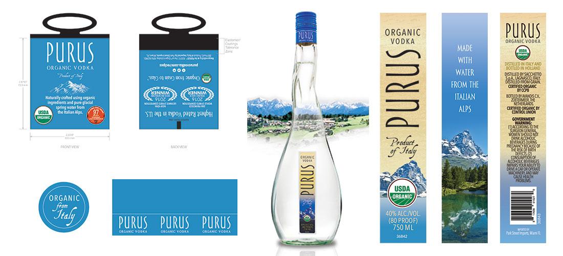 Purus Vodka Label Set