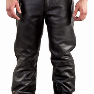 Men's Leather Motorcycle Chaps / Pants