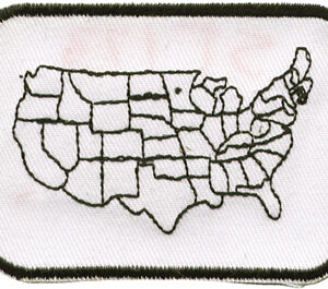 Country Map Patch