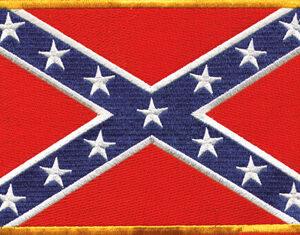 Confederate Flag Biker Patch