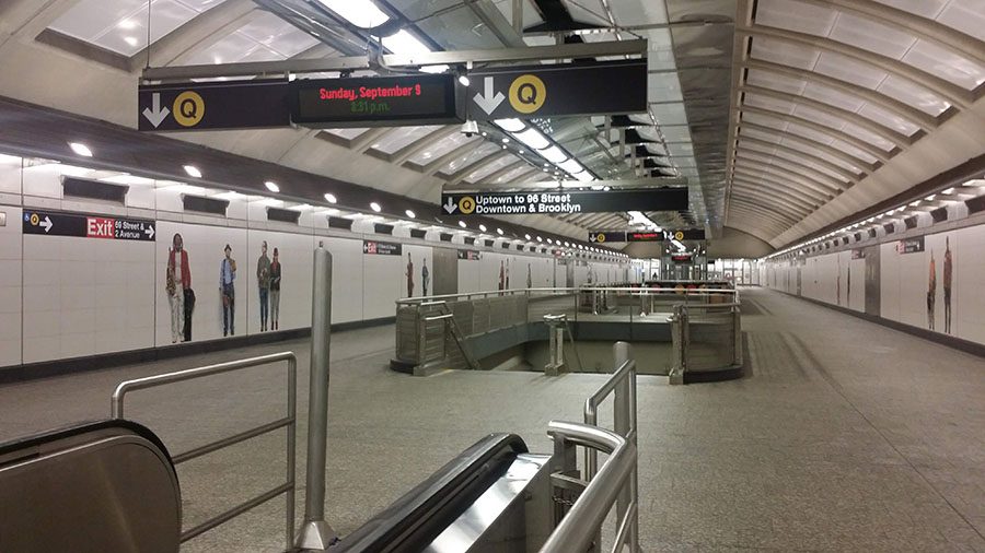 Subway stations can be very large
